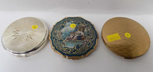 3x Stratton vintage ladies compacts