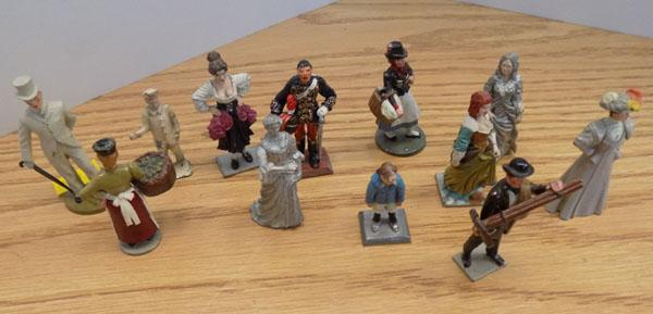 Collection of Sanderson miniatures