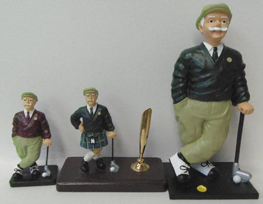 3 Golf figurines
