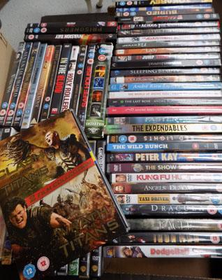 Box of dvds (x57)