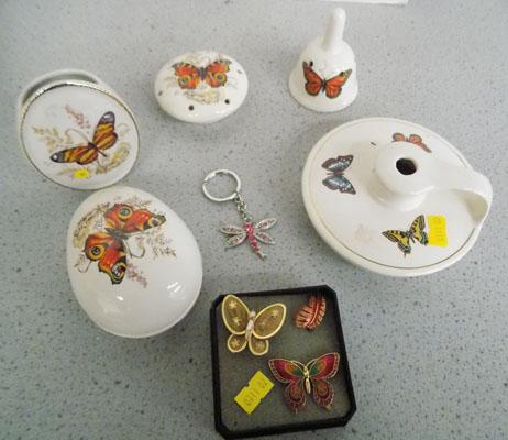 Butterfuly trinket pots and costume jewellery