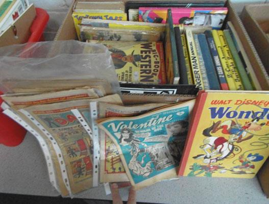 Box of childrens books and comics - some vintage