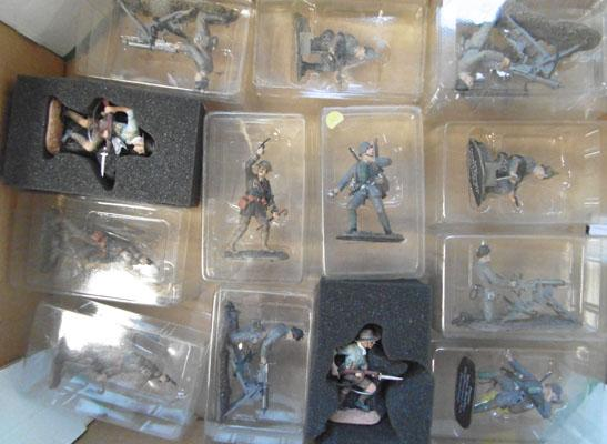 Box of  lead soldiers