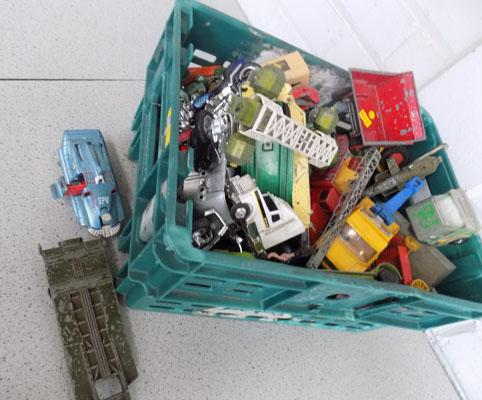 Large box of miscellaneous toys and diecast