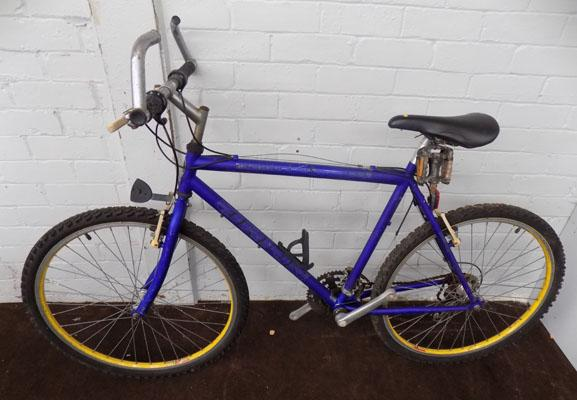 "British Eagle Orion blue bike 26"" rigid 21 gears"