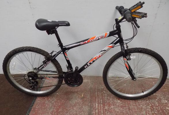 "Maxima stone black bike 24 "" rigid 18 gears"