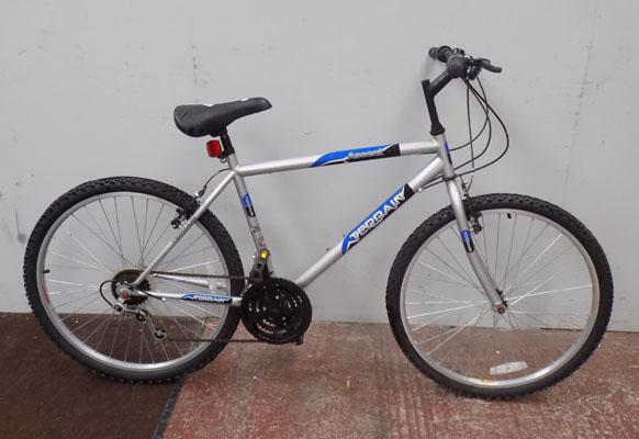 "Terrain Ascent silver bike 26"" rigid 18 gears"