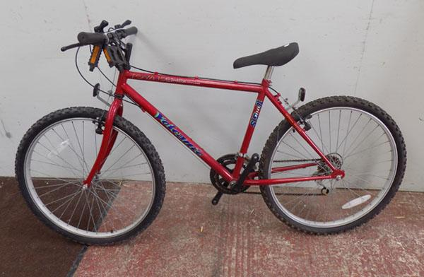 "Townsend Volcanic ZC red bike 26"" rigid 10 gears"