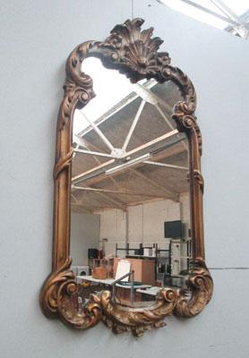 Large ornate vintage mirror