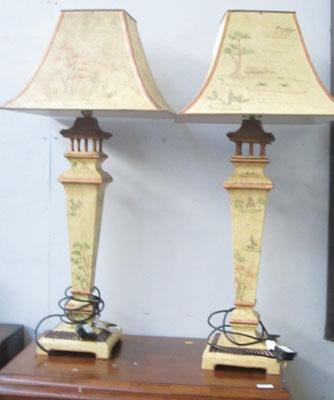 2 ornate lamps