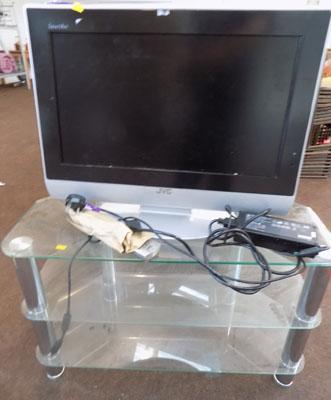 JVC TV & stand (remote in office)