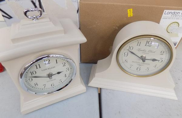 2 Clocks including London clock & lascettes