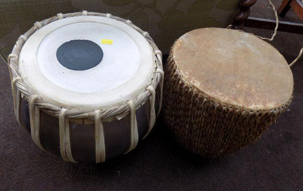 African drum and Indian drum