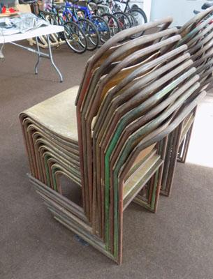 10 stacking chairs