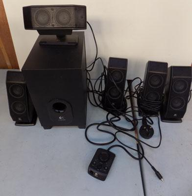 Logitec sound surround system in working order