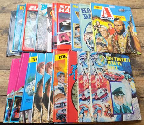 22x American TV annuals Happy Days/Mork/Kojak/A Team etc