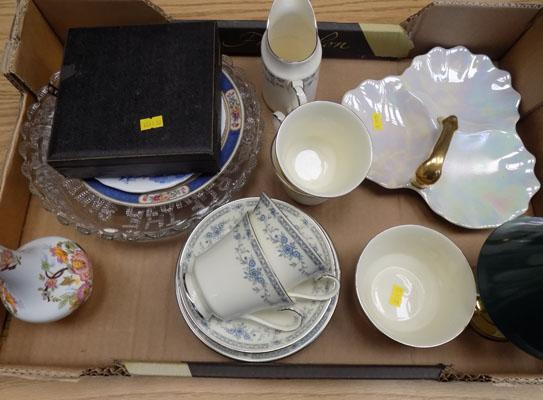 Box of household items inc tea set
