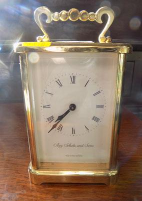 Aug Schatz & Sons mantle clock with key (w/o)