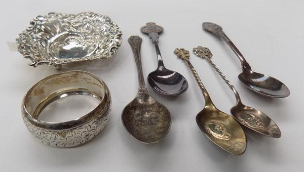 Selection of solid silver items