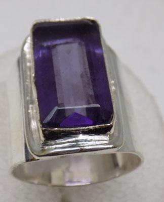 Large 925 silver Amethyst ring