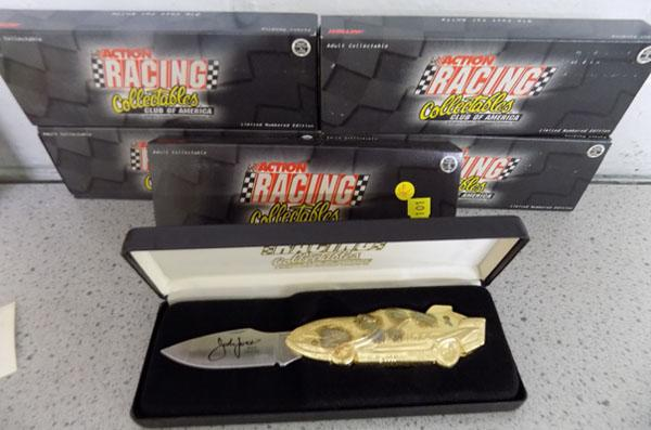 5x Limited edition racing collectable knives