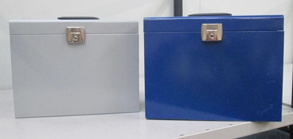 2x Metal file boxes