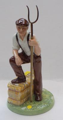 Royal Doulton farmer with pitch fork