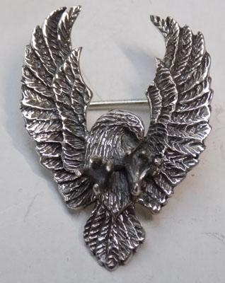 Silver Eagle brooch
