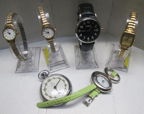 Selection of quality watches inc stop watch