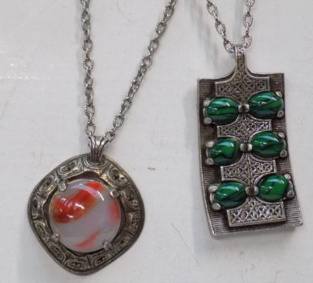 2x Vintage Scottish 'Miracle' necklaces
