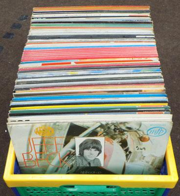 Box of LP records