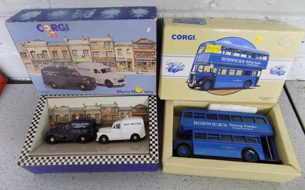 1x Corgi Bus & 2x Minor vans