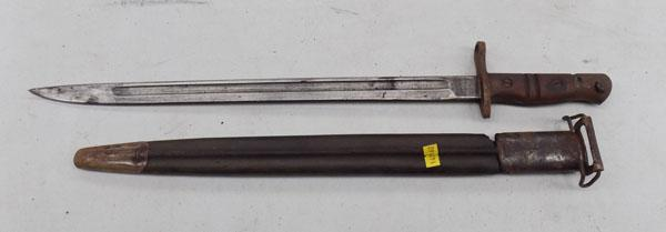 WW1 US issued Bayonet with sleeve