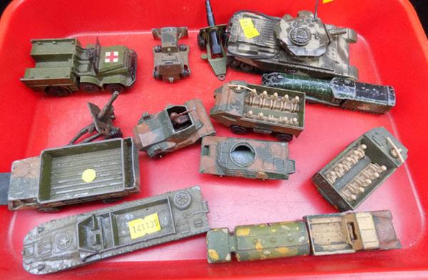 Collection of Dinky,Corgi & Matchbox Military cars