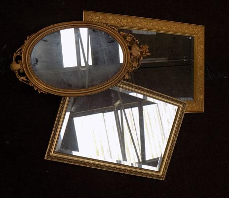 Selection of 3 mirrors