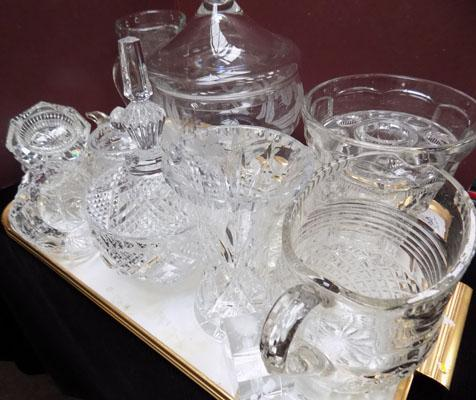 Assorted glassware inc cut glass
