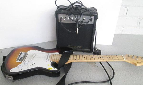 Kids electric guitar with amp w/o