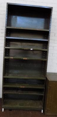 Army green shelf unit