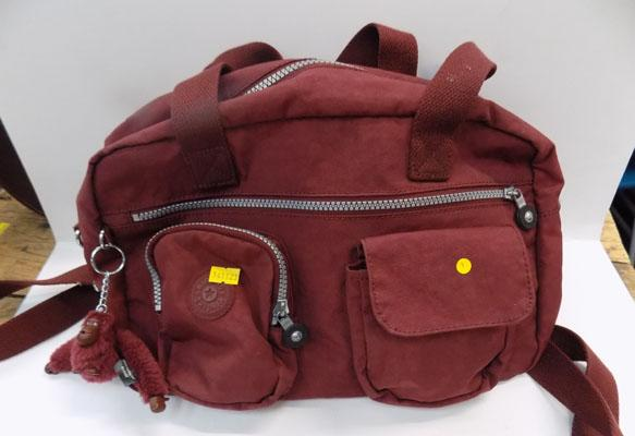 Burgandy Kipling hand/shoulder bag (medium)
