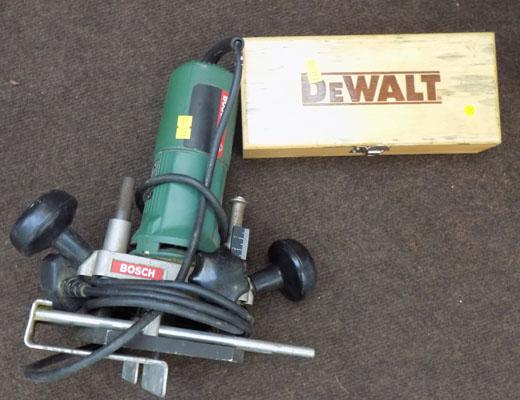 Router & Dewalt set