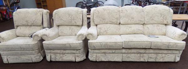 Three piece suite, electric recliner