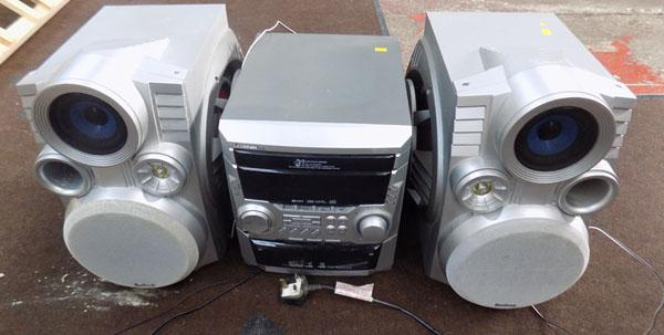 CD player/tape player/radio with 2 speakers-CD needs attention