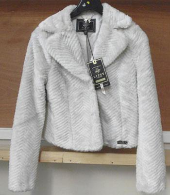 Lipsy London designer, furry jacket size 12 (with tags)