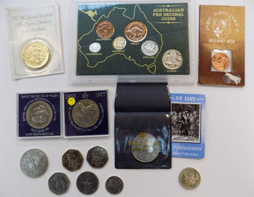 Selection of commemorative coins inc crowns & commonwealth