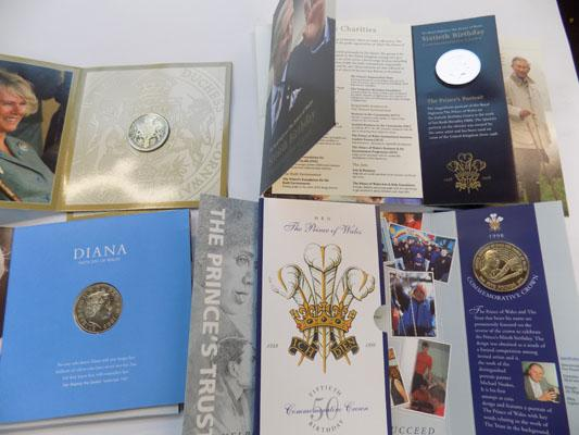 Selection of Royal commemorative coins