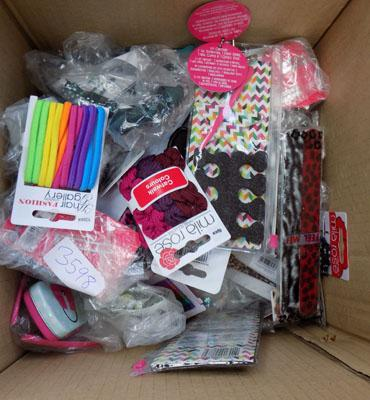 Large box of hair accessories