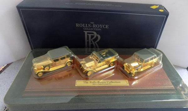 Lledo Rolls Royce gold plated special edition set