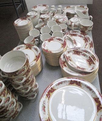 Selection of catering quality dinner set items.               There are 2 more similar size sets in storeroom-option to buy-see office