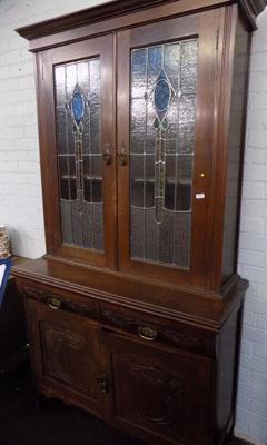 Lead fronted vintage cabinet