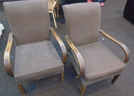 2x Parker Knoll bentwood arm chairs